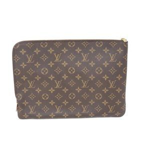 Auth Louis Vuitton Laptop/ Document Clucth Bag